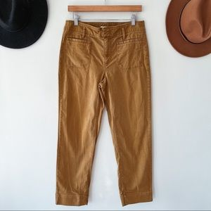 LOFT | Mustard Cropped Straight Leg Pants Sz 6